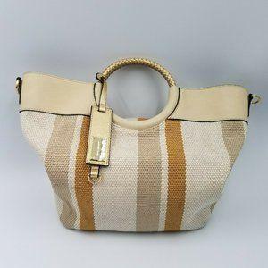 Kate Landry Woven Canvas Handbag